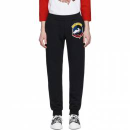 Moschino Black Chinese New Year Mickey Rat Lounge Pants 0378 2227