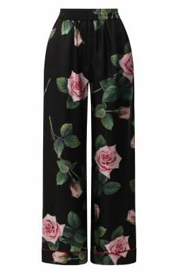 Шелковые брюки Dolce&Gabbana FTAMPT/HS190