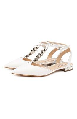Кожаные балетки Casadei 1G530P010MC04529999