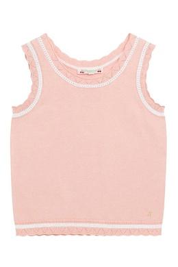 Розовая майка из хлопкового трикотажа Bonpoint 1210181854