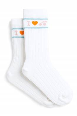 Белые хлопковые носки Bonpoint 1210181867