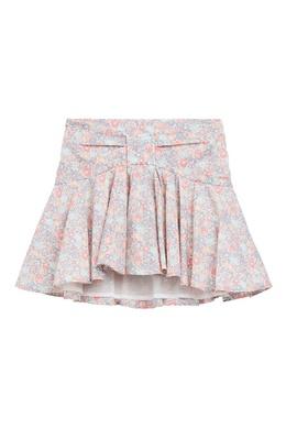 Разноцветная юбка с оборкой Bonpoint 1210181993