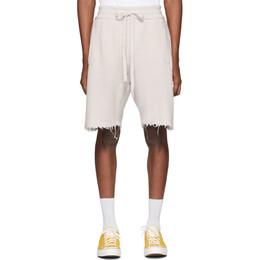 Alanui Off-White Cashmere Bermuda Shorts LMHM002S200930290101