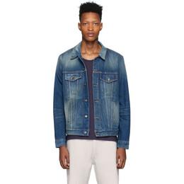 Alanui Blue Denim Sarape Jacket LMYE001S20011047K6K6
