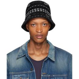 Alanui Black Jacquard Bucket Hat LWLA004R201081061188