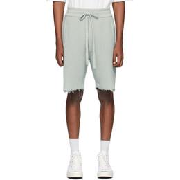Alanui Grey Cashmere Bermuda Shorts LMHM002S20093029K4K4