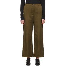 Raquel Allegra Khaki Sateen Everyday Trousers Z97-8239