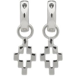 Marcelo Burlon County Of Milan Silver Cross Pendant Earrings CMOD001R20MET0017200