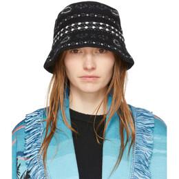 Alanui Black Bandana Bucket Hat LWLA004R201081061188