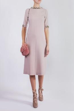 Платье с декором из бисера Agnona 2540182017