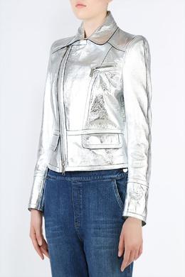 Куртка-косуха из серебристой кожи Dsquared2 1706182147