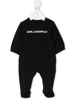 Karl Lagerfeld Kids комбинезон для новорожденного с логотипом Z9703009B