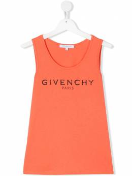 Givenchy Kids топ без рукавов с логотипом H15147430