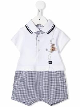Lapin House short sleeve sailor bear romper 201E5242