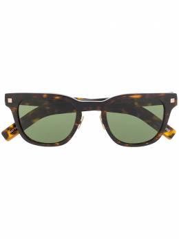 Ermenegildo Zegna солнцезащитные очки черепаховой расцветки EZ01254947N