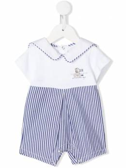 Lapin House short sleeve striped sailor romper 201E5260