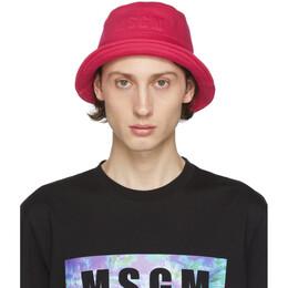 MSGM Pink Logo Bucket Hat 2840ML07 207099