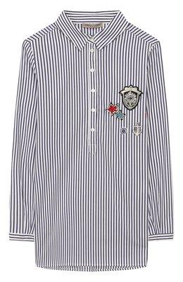 Хлопковая рубашка Ermanno Scervino 46I CM10 RIG/4-8