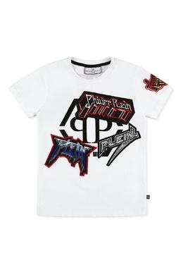 Белая футболка с декором Philipp Plein 1795182299