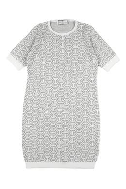 Серое платье-свитер Philipp Plein 1795182293