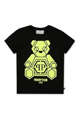 Черная футболка с принтом Philipp Plein 1795182327