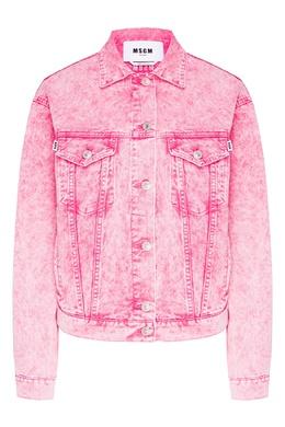 Куртка из вареного розового денима MSGM 296181709