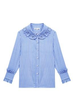 Полосатая рубашка с рюшами Maje 888182018