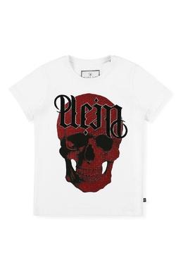 Белая футболка с красным принтом Philipp Plein 1795182320