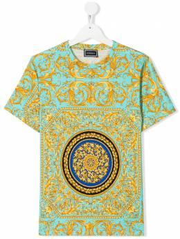 Young Versace футболка с круглым вырезом и принтом YD000080A2327761