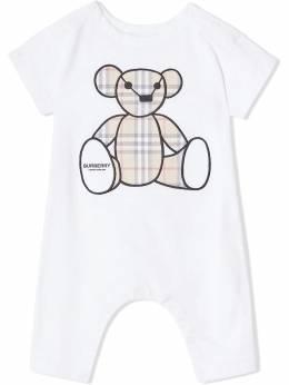 Burberry Kids Thomas bear appliqué romper 8022709