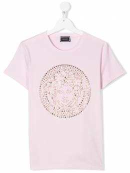 Young Versace футболка с декорированным логотипом YC000278YA000191