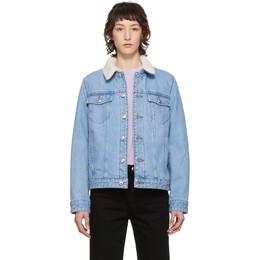 A.P.C. Blue Denim Arlette Jacket COEFE-F02597