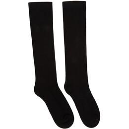 Rick Owens Black Mid-Calf Tecuatl SS20 Socks RU20S7499 C