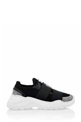 Черные текстильные кроссовки со стразами Philipp Plein 1795182439