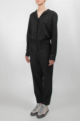 Черный комбинезон с длинными рукавами Lorena Antoniazzi 2136182250