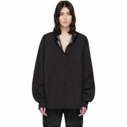We11Done Black Zip Detail Long Sleeve Shirt WD-BL6-20-022-W-BK