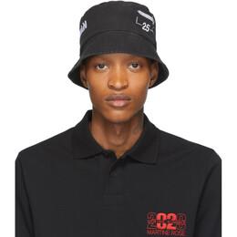 Han Kjobenhavn Black Logo Bucket Hat A-130001