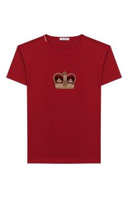 Хлопковая футболка Dolce & Gabbana L4JT6S/G7VJS/8-14