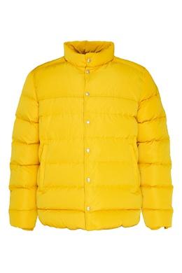 Желтый стеганый пуховик Bikkembergs 1487182950