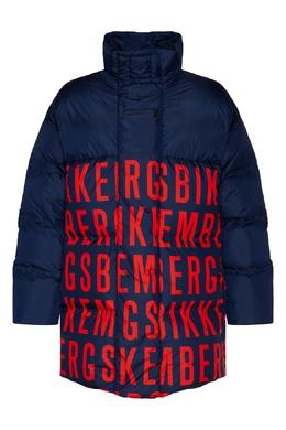 Синий пуховик Bikkembergs 1487182948