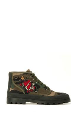 Ботинки цвета хаки с нашивкой Valentino 210182671
