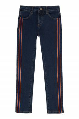 Синие джинсы с лампасами Bikkembergs 1487183083