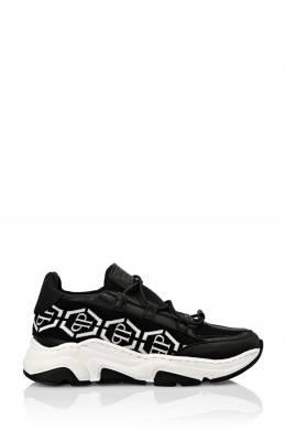 Черные комбинированные кроссовки Philipp Plein 1795182972
