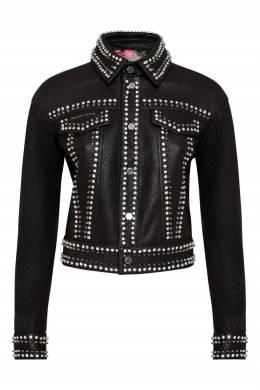 Черная куртка с шипами и кристаллами Philipp Plein 1795182974