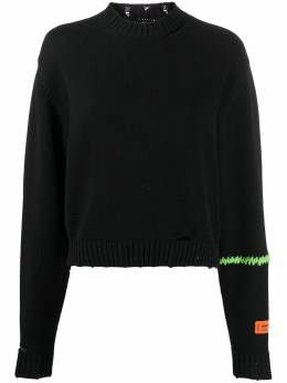 Heron Preston embroidered distressed jumper HWHE004R209060061040