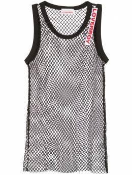 Charles Jeffrey Loverboy logo embroidered mesh vest CJLSS20MV