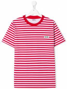 GCDS Kids TEEN striped T-shirt 022481