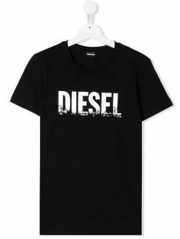 Diesel Kids TEEN logo print T-shirt 00J4SU00YI9
