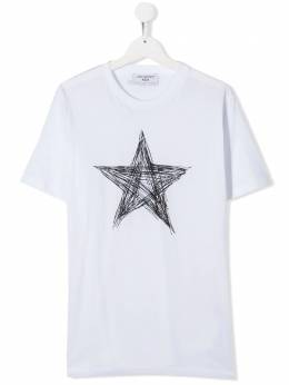 Neil Barrett Kids TEEN scribbled star T-shirt 024402
