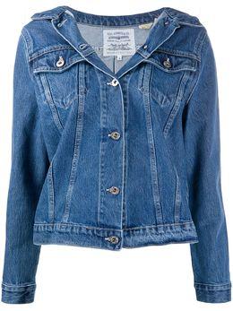 Levi's: Made & Crafted off-shoulder denim jacket 8475500000000